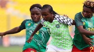Nigeria Super Falcons beat Cameroon Lioness for semi finals to qualify go finals