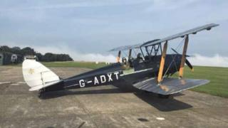 The Tiger Moth before the accident