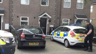 Police at the house in Burnham-on-Crouch