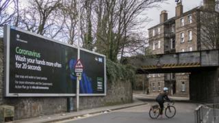 coronavirus sign in Edinburgh