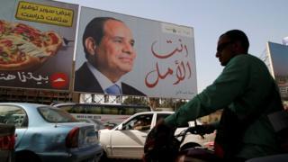 Plakati el Sisija se mogu videti svuda u Egiptu