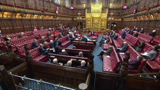 The Lords chamber just before the disturbance