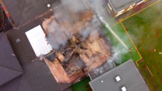 Fire scene Dukinfield