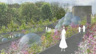 Artists impressions shows domes in the garden
