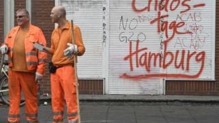 Уборщики на улицах Гамбурга