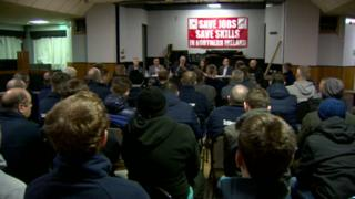 Workers at Schlumberger factory in Newtownabbey meet with politicians