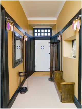 The entrance to Mackintosh's house