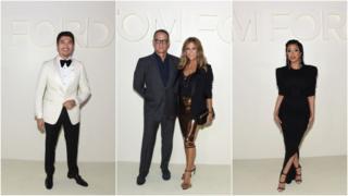 Henry Golding, Tom Hanks, Rita Wilson and Cardi B