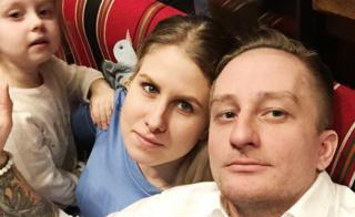 Любовь Соболь с мужем Сергеем Моховым и дочерью Мирославой