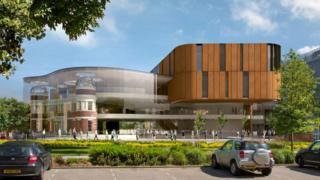 Artist impression of the new Doncaster Library (June 2017)