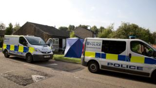 Milton Keynes murder scene