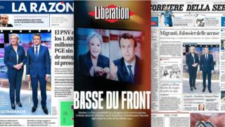 European newspapers' frontpages