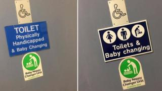 The sign was changed following criticism by disability campaigner Peter Mitchell