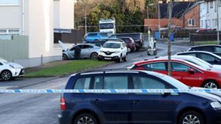 Security alert at Tarragon Park in Antrim