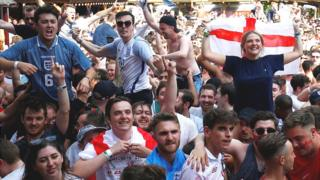England fans in London