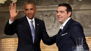 Barack Obama and Alexis Tsipras in Athens