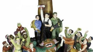 「大豐收」雕刻瓷器