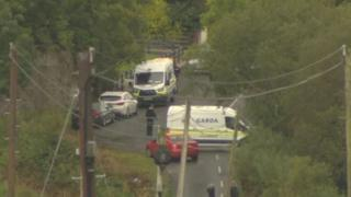 Gardaí in Cavan have cordoned off an area of land in County Cavan
