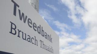 Tweedbank sign