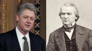 Bill Clinton and Andrew Johnson.