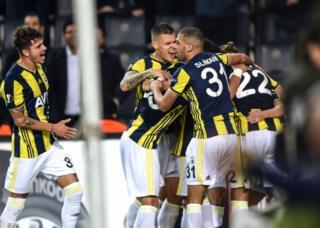 Fenerbahçeli futbolcuların gol sevinci