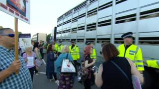 Protesters at the Port of Ramsgate