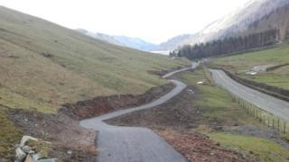 The new cycle, walking and bridle route from Dunmail Raise to Thirlmere