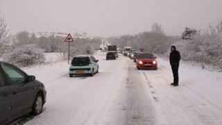Traffic at Ashkirk on A7