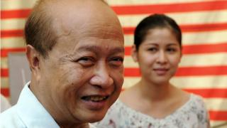 Prince Norodom Ranariddh and his wife Ouk Phalla. Archive photo