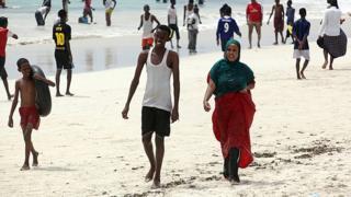 摩加迪沙附近的海灘以潔白的沙質著稱。