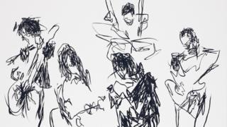 Todd DiCiurcio's drawing of The Strokes Live at Madison Square Garden in 2011
