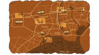 Mapa para encontrar las esculturas