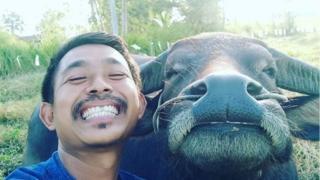 Mr Surat with Thong Kham