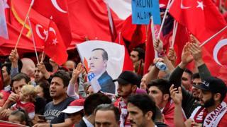 Köln'de Cumhurbaşkanı Erdoğan'a destek mitingi, 31 Temmuz 2016
