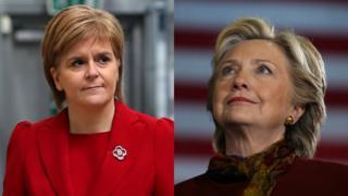 Nicola Sturgeon and Hillary Clinton
