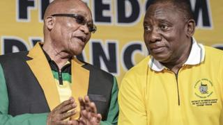 Jacob Zuma(akaekpe) na Cyril Ramaphosa(akanri)