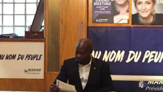Guy Deballe, français d'origine centrafricaine, ancien militant du parti socialiste, aujourd'hui militant du Front national.