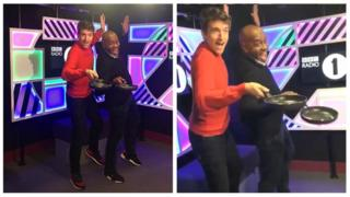 Greg James and Ainsley Harriott.