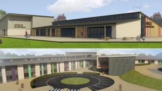 Artist's impressions of the two schools