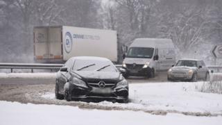 Vehicles stuck on A1