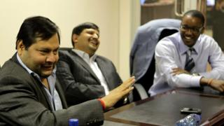 Ajay and Atul Gupta, and Duduzane Zuma