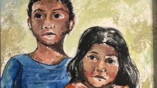 migrant children painting