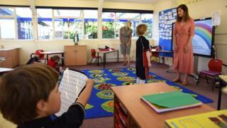 Primary school classroom June 2020