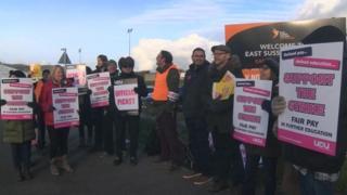 UCU strike action in East Sussex