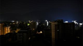 A dark skyline in Caracas