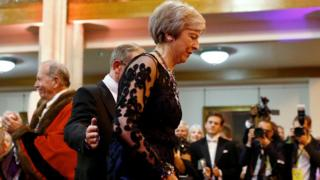 Theresa May and husband Philip attend the Lord Mayor's Banquet