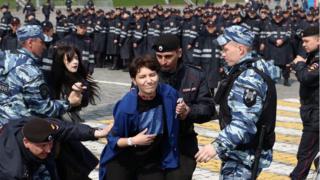 Задержание Катрин Ненашевой в Москве