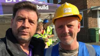 Nick Knowles (left) and Paul Matson