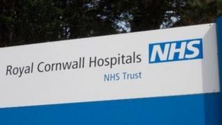 Royal Cornwall Hospitals sign
