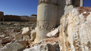 Ibisigariro vy'umuji wa kera cane wa Palmyra muri Syria